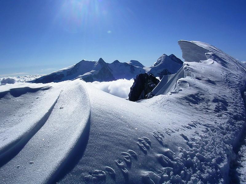 breithorn mountain in the winter