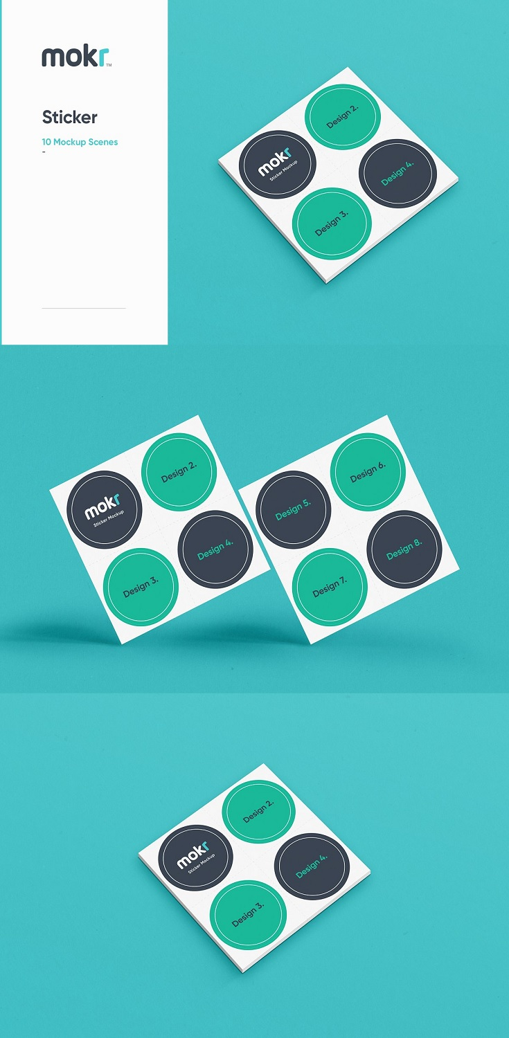 Logo Sticker Mockup PSD (Photoshop) files are designed for beginners and expert designers. When you purchase the sticker mockup, you get a well organised and fully layered Photoshop document that allows you to easily change text, wording, fonts, colours, layout and more!