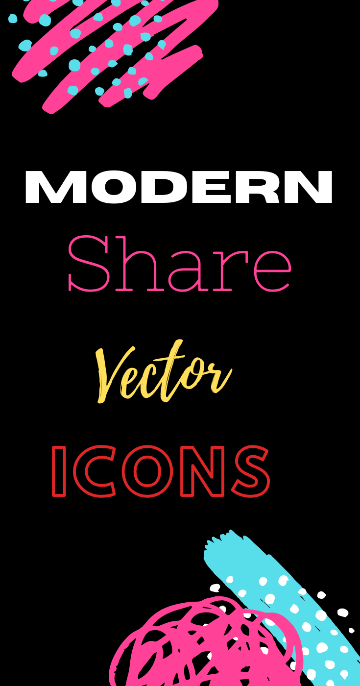 Share Icons Vector Templates