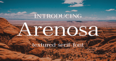 All types of Font templates