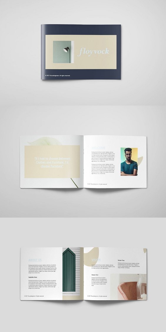 This is a professional Floyvock Brochure A5 Template template that can be used for any type of industry. This item consist of 18 pages that fully editable and customizable. Feature : 24 pages A5 .InDesign Paragraph styles CMYK CMYK Print-ready with bleed File types : Adobe inDesign cs6/cs5/cs4. Pdf (File Info)