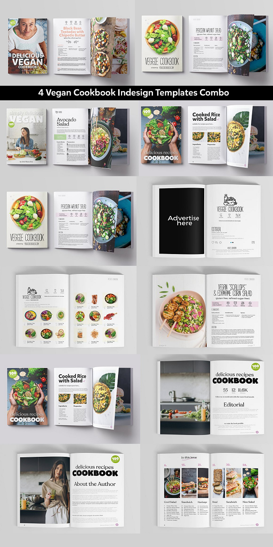 MAGAZINES TEMPLATES COMBO FULLY CUSTOMIZABLE ! Just replace your images, put your content on it and you are ready to go! Features: Made in Adobe Indesign CS6 (IDML file included for preview Indesign versions CS4 minimum) / Magazine Template – Size A4 210 ×297mm – CMYK @ 300 DPI – Print-ready (.indd) – Advertising Areas