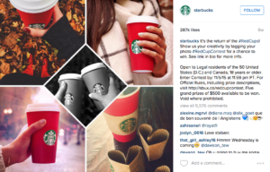Starbucks User Generated Content Campaign