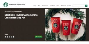 Starbucks User Generated Content Page
