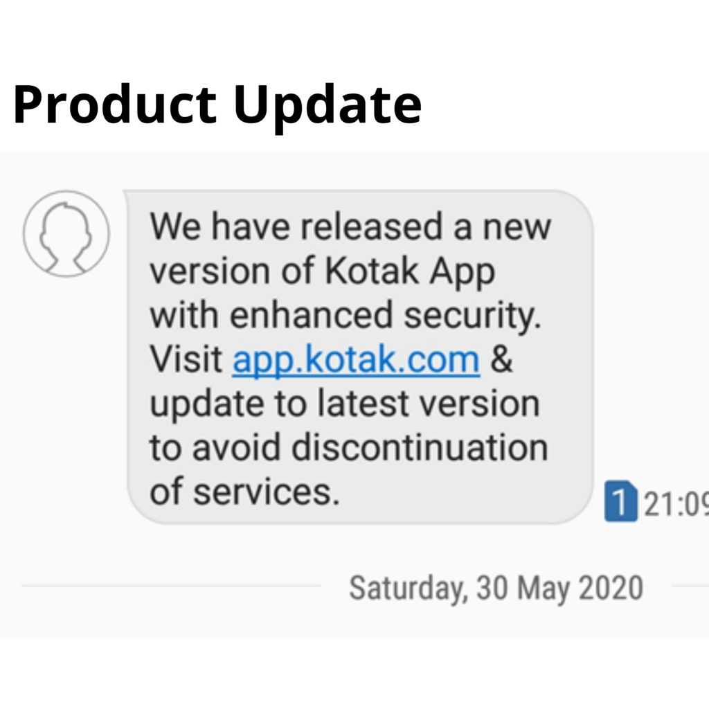 Product Updates through SMS