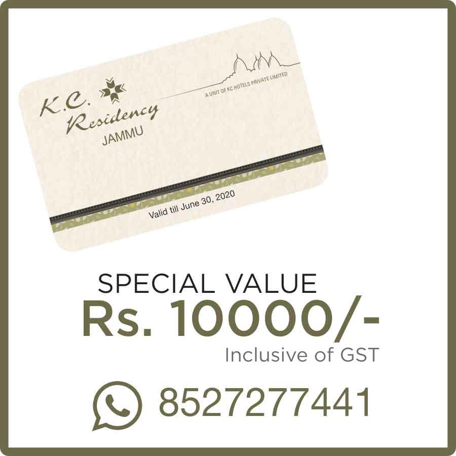 KC Residency Jammu Membership offers