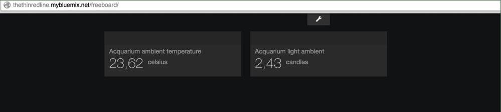 Acquarium sensor data