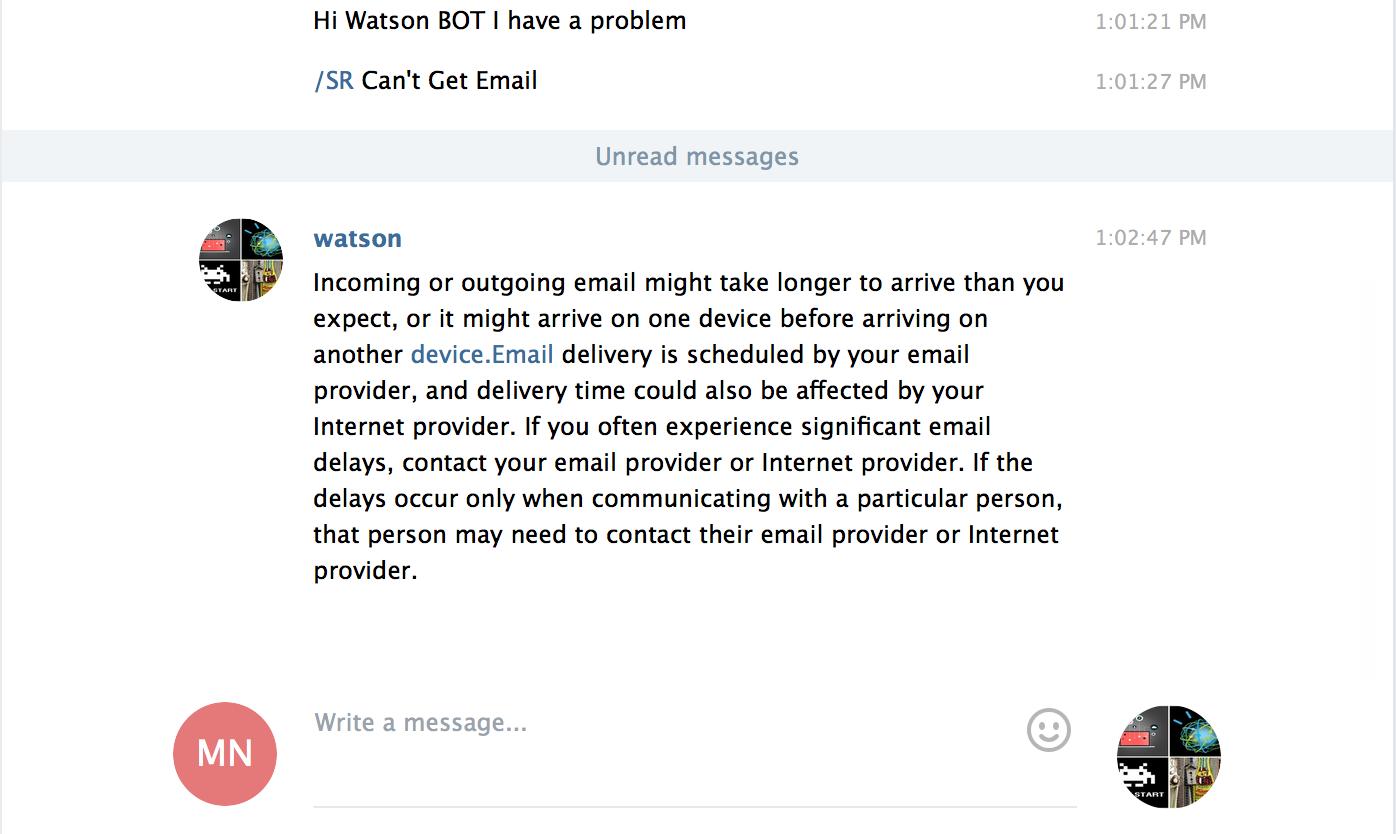 Building intelligent Telegram BOTs with IBM Watson – Internet of Ideas