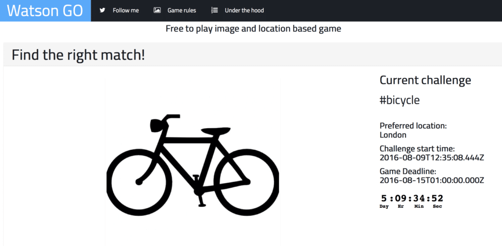 Watson GO - free to play image and location based game