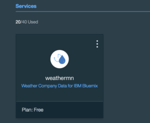 Weather Company Bluemix service