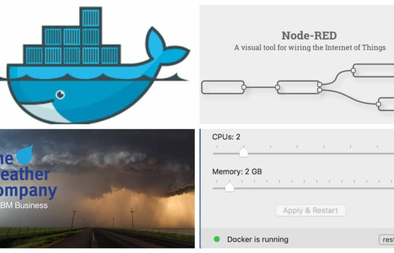Node-RED flows for Docker