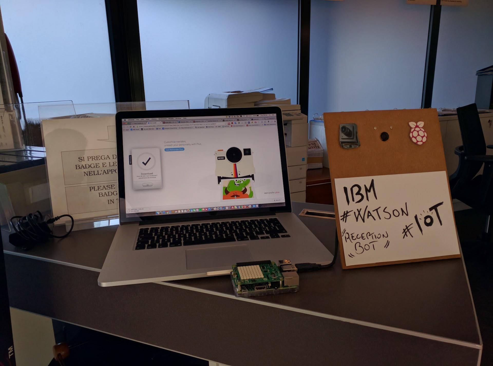 Watson IoT Receptionist BOT in action