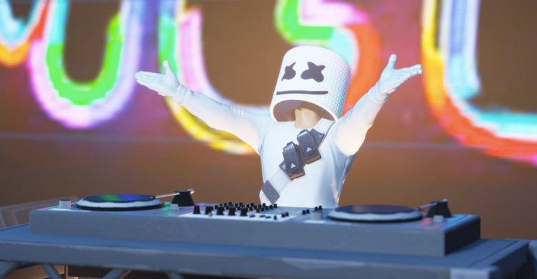 Marshmello event in Fortnite