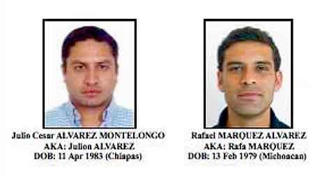 Ambos están siendo vinculados con el narcotráfico. Y en el caso de Rafa Márquez, la lista lo vincula actuando a favor de dos presuntos delincuentes mexicanos de nombres Mauricio Heredia Horner y Marco Antonio Fregoso González.