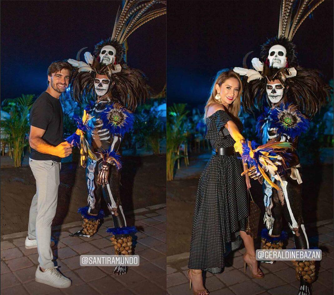 Santiago se tomó foto con este danzante... y luego Geraldine también