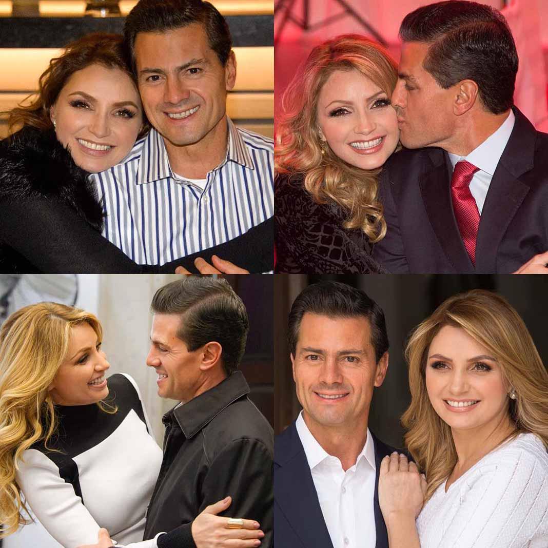 Peña Nieto hace poco posteó este collage de fotos con Angélica