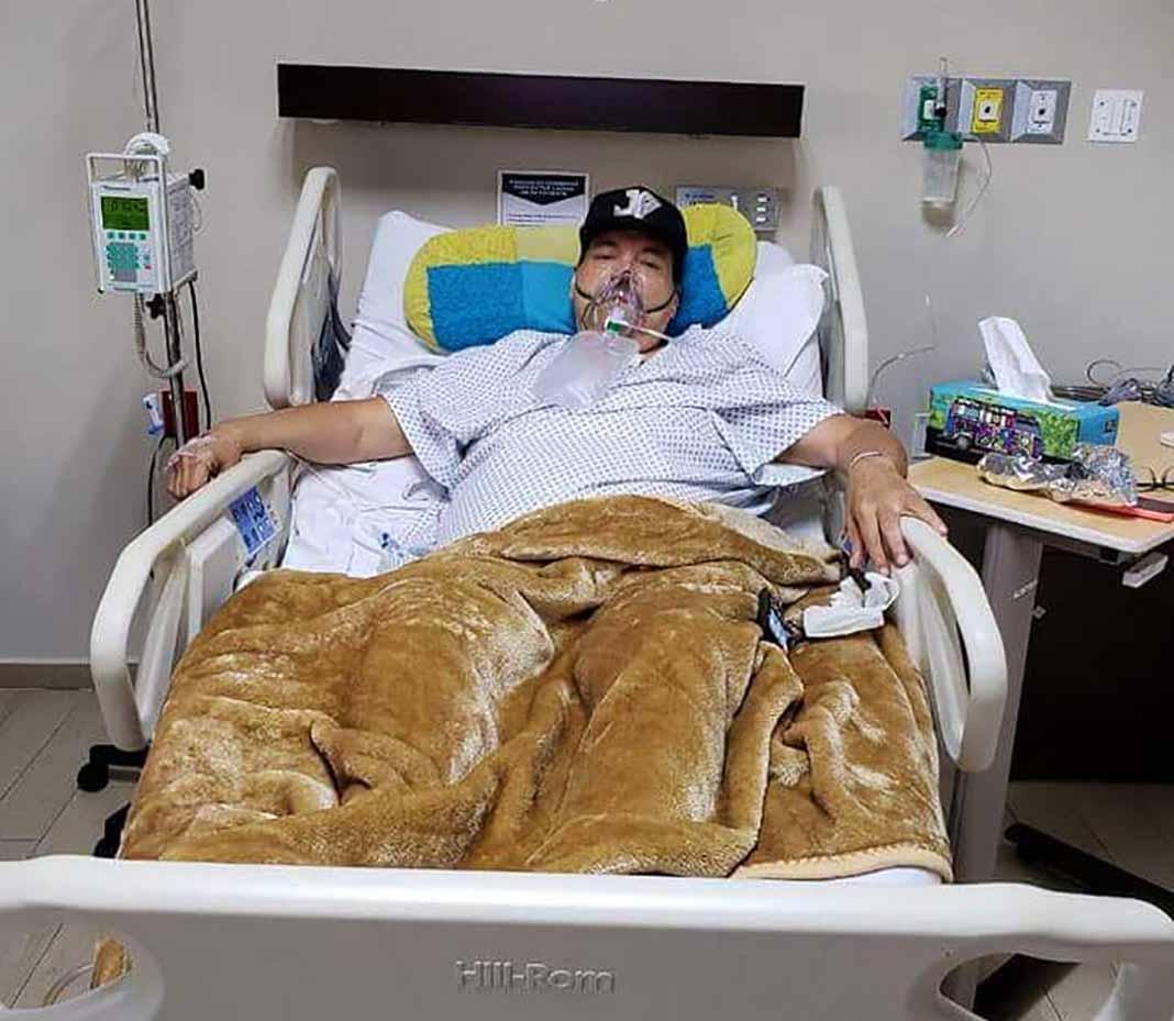 Julio Preciado ha estado varias veces internado en el hospital por diferentes causas