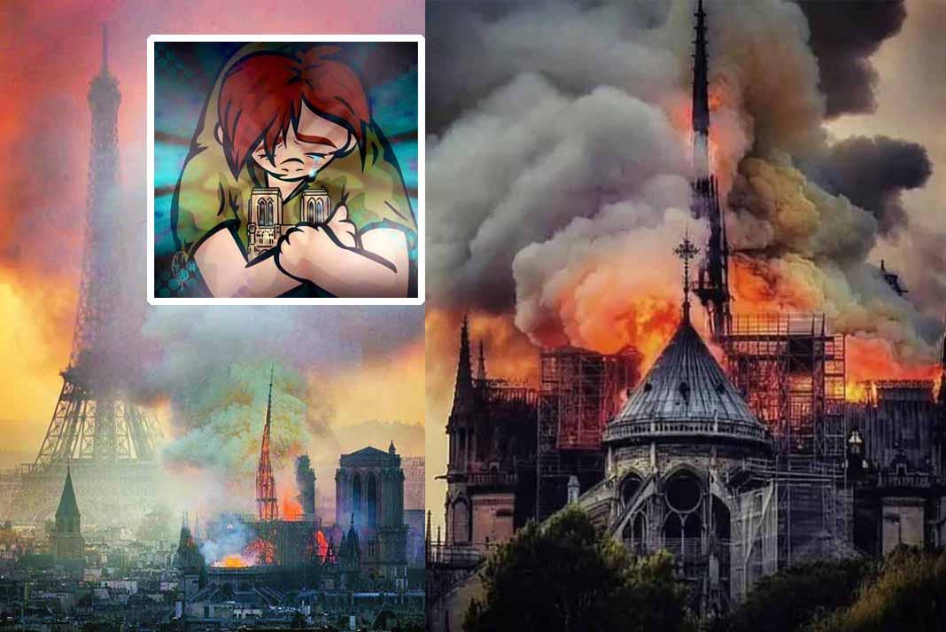 El mundo está conmovido por las imágenes de la emblemática catedral en llamas