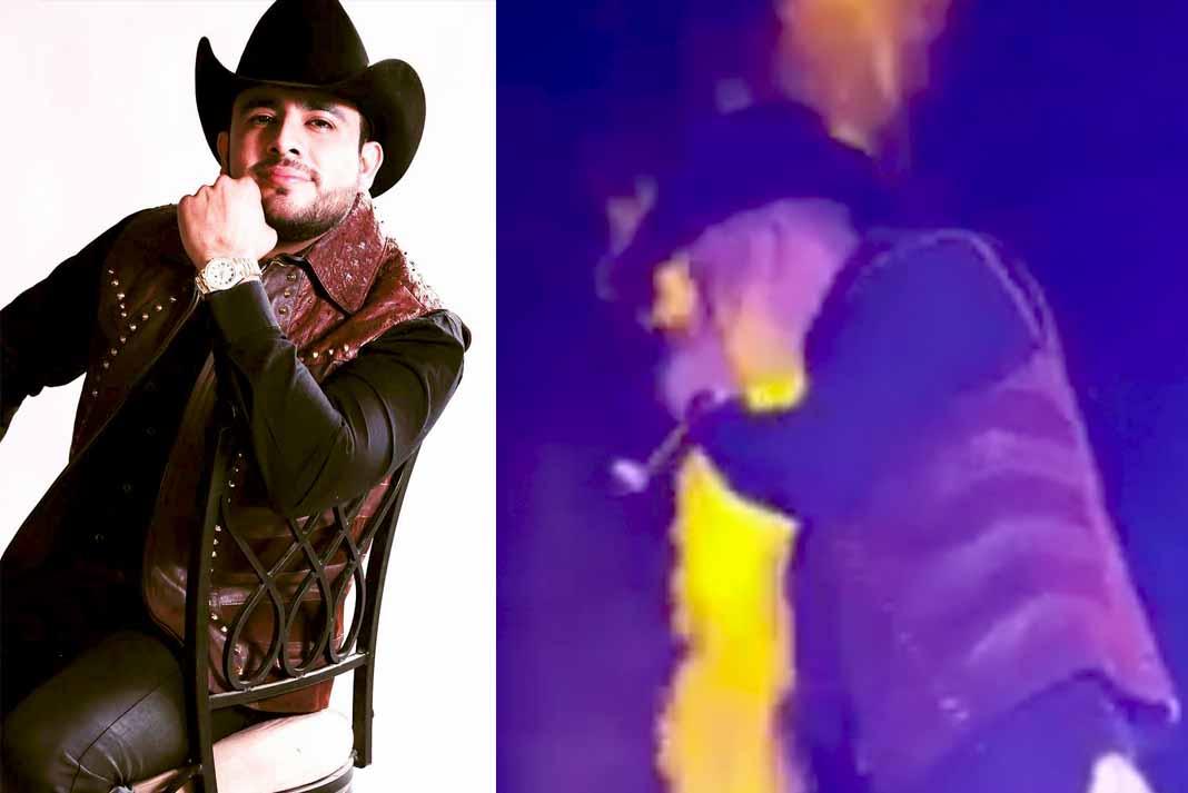 El cantante estaba actuando sobre el escenario cuando recibió las quemaduras
