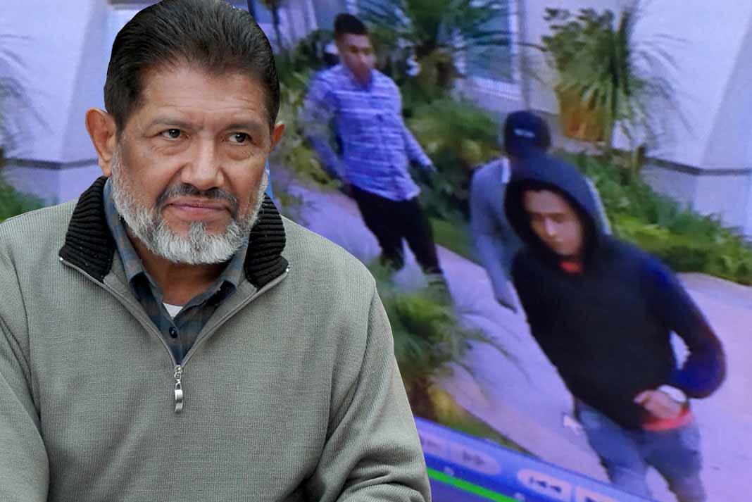 Osorio dio a conocer imágenes de los ladrones tomadas por sus cámaras de seguridad