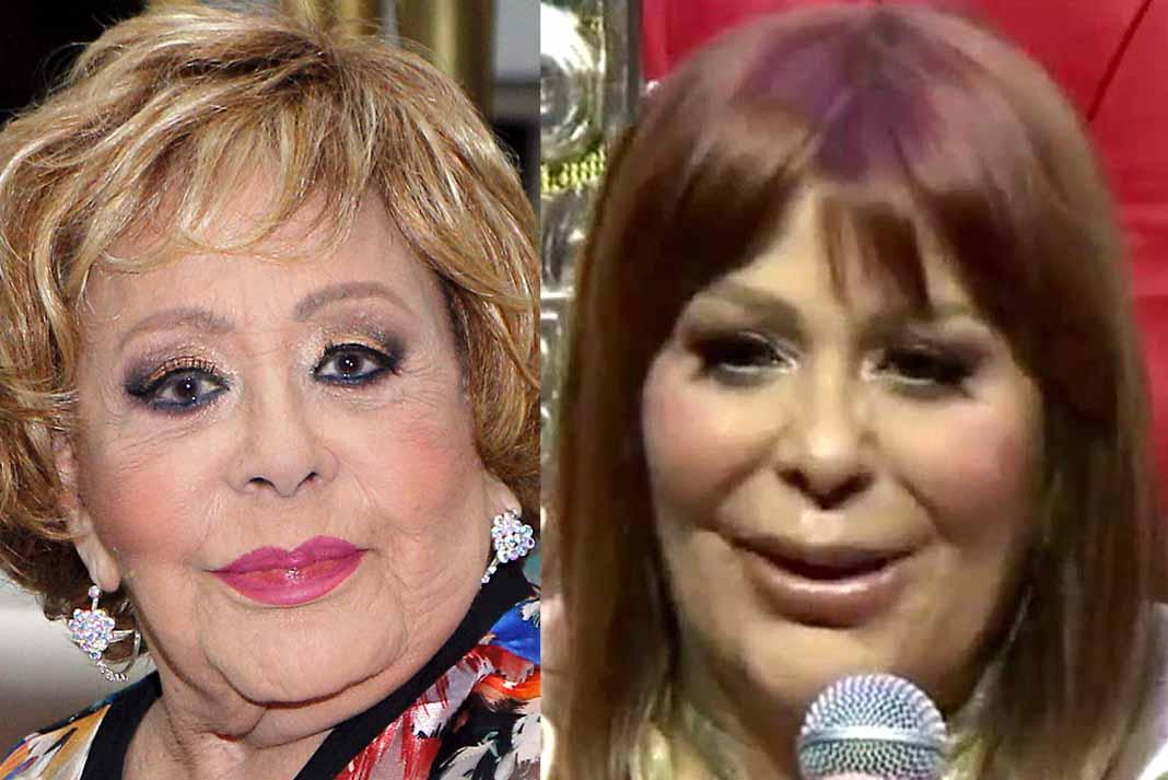 Muchos cibernautas dicen que se parece cada vez más a su madre doña Silvia Pinal (ambas fotos son de este año)