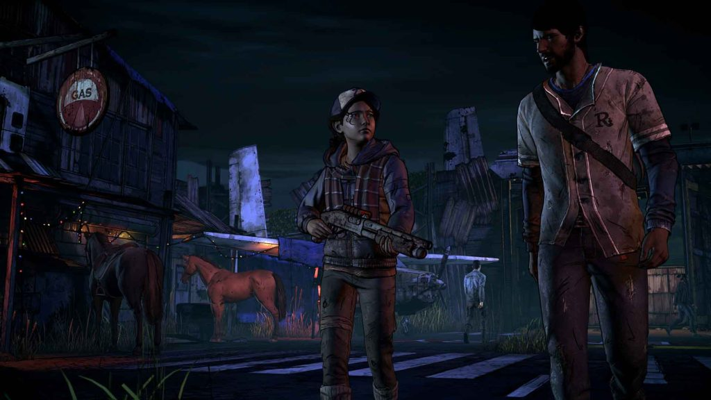 Walking Dead, Clementine and Javier