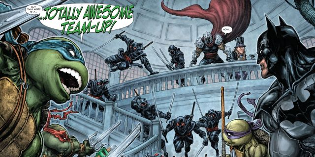 Batman and Ninja Turtles vs Shredder