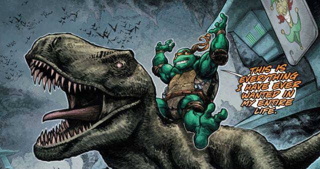 Michelangelo on Dinosaur