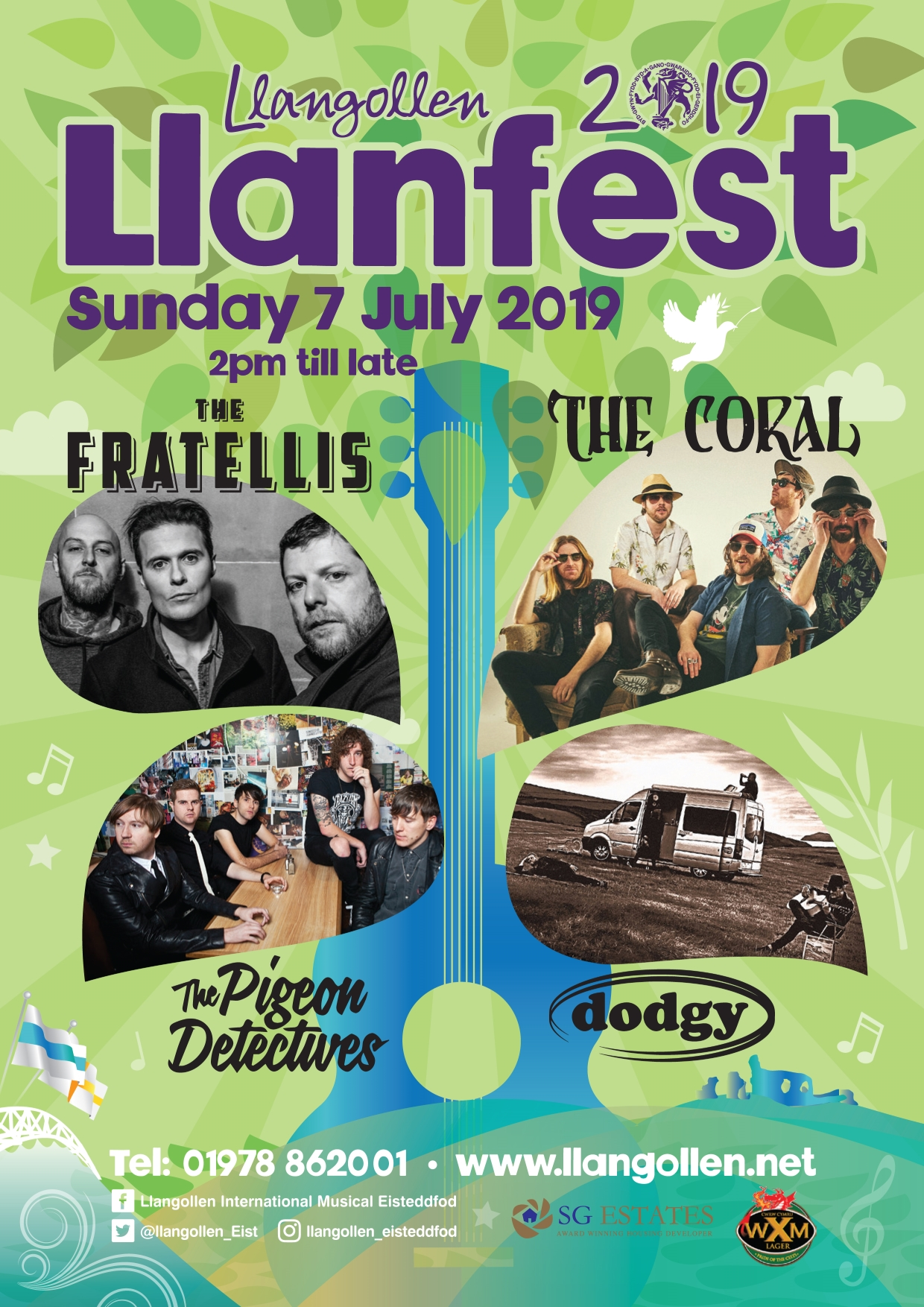 Llangollen 2019 – The LLanfest – The Fratellis, The Coral, The Pigeon Detectives, Dodgy