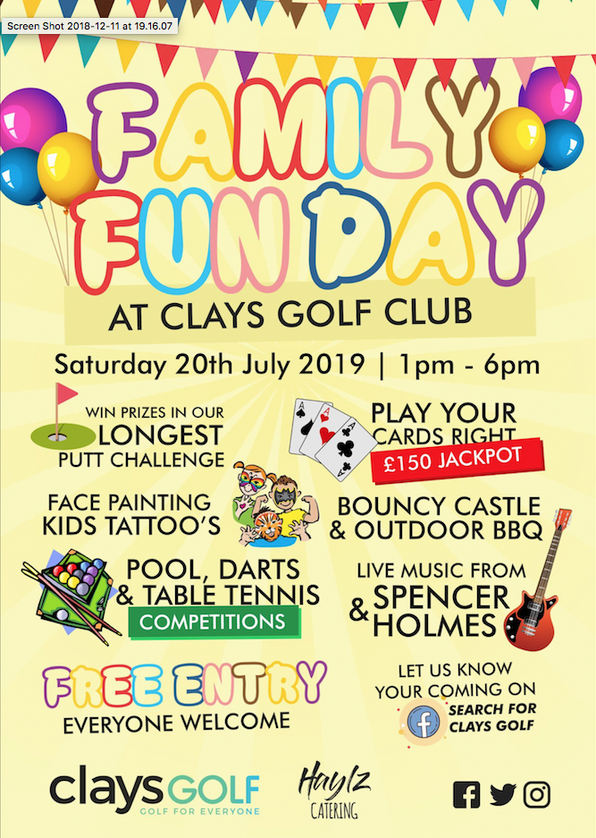 Family Fun Day – Clays Golf