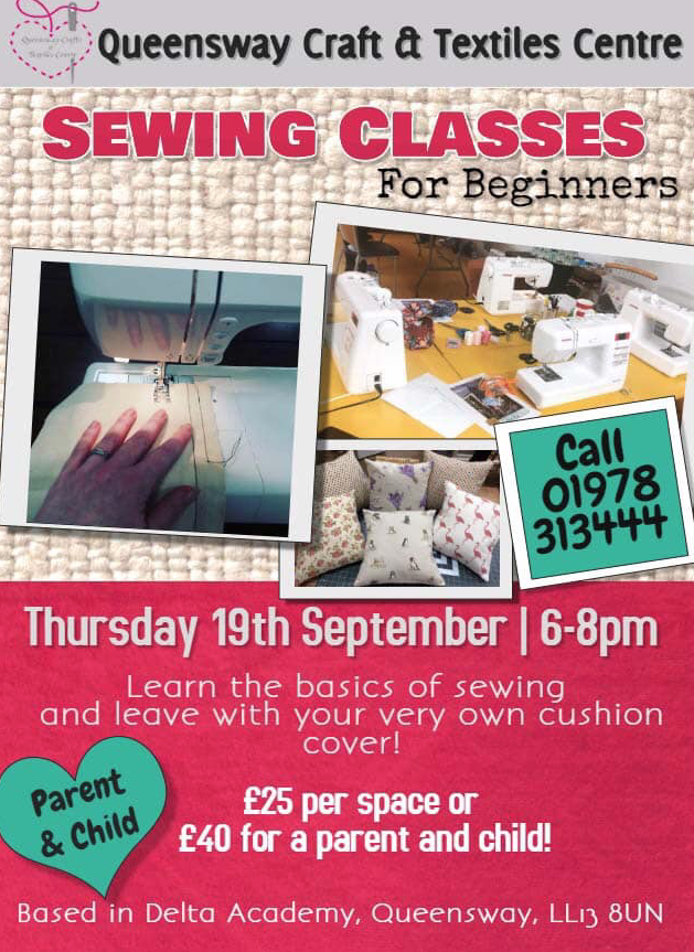 Sewing classes for beginners.