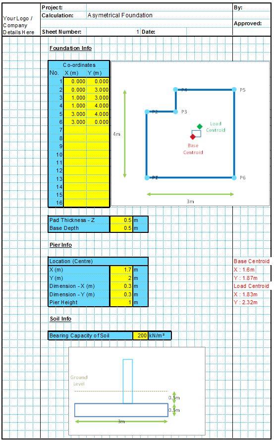 Asymmetrical Foundation Design Spreadsheet1