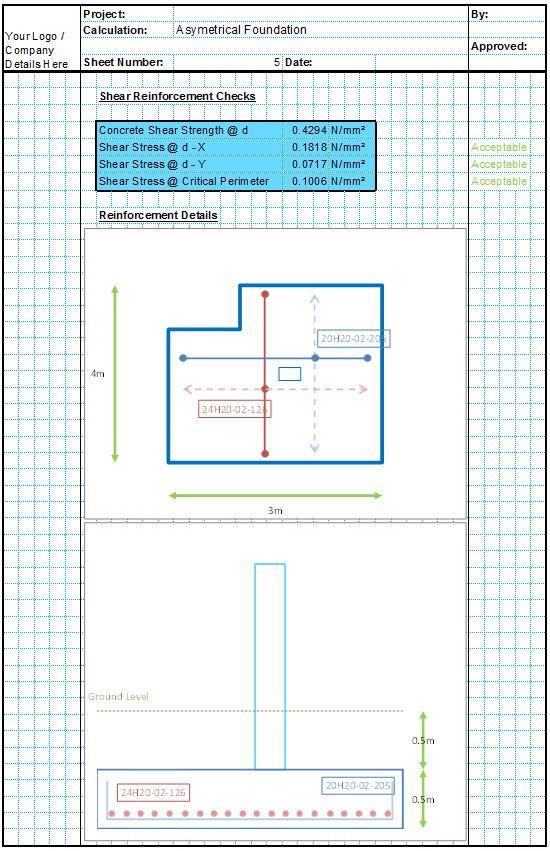 Asymmetrical Foundation Design Spreadsheet5