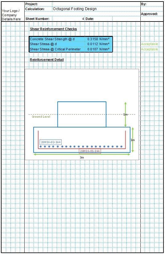 Octagonal Foundation Design Spreadsheet4