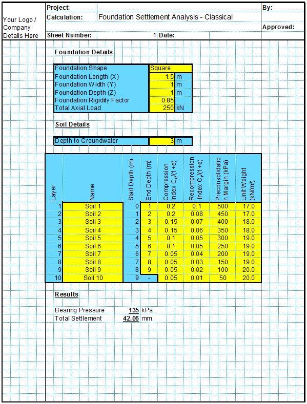 Settlement Analysis Spreadsheet - Classical1