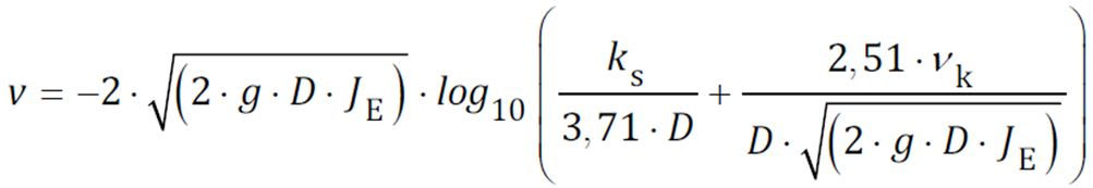 Colebrook White Equation