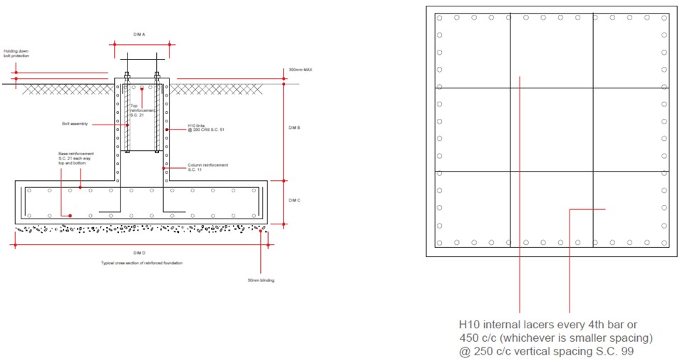 30m High Mast Foundation Drawing1