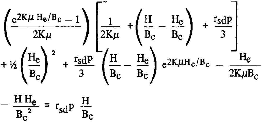 Plane of Equal Settlement Equation