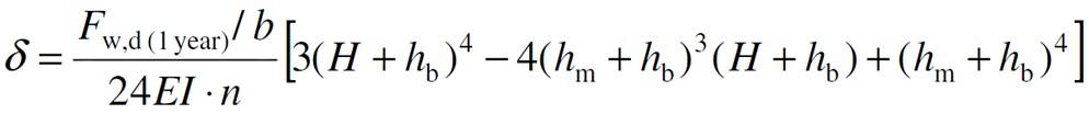 Sign Post Design Deflection Equation