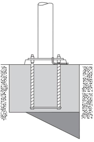 Unreinforced Concrete High Mast Light Pole Foundation – Non Passive