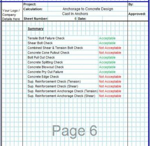 Anchorage to Concrete Design Spreadsheet6