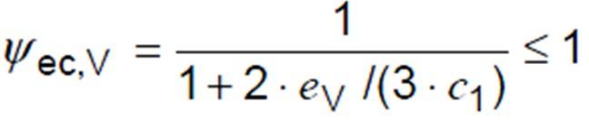 Concrete Edge Failure - Eccentricity Effects Factor