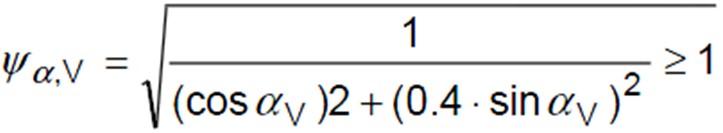 Concrete Edge Failure - Load Direction Effect Factor