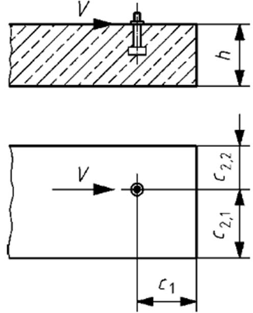 Concrete Edge Failure - Narrow Thin Member Effects