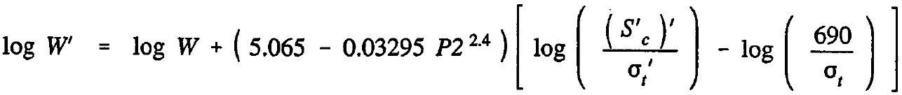 AASHTO Rigid Pavement Design Spreadsheet - Design Equation