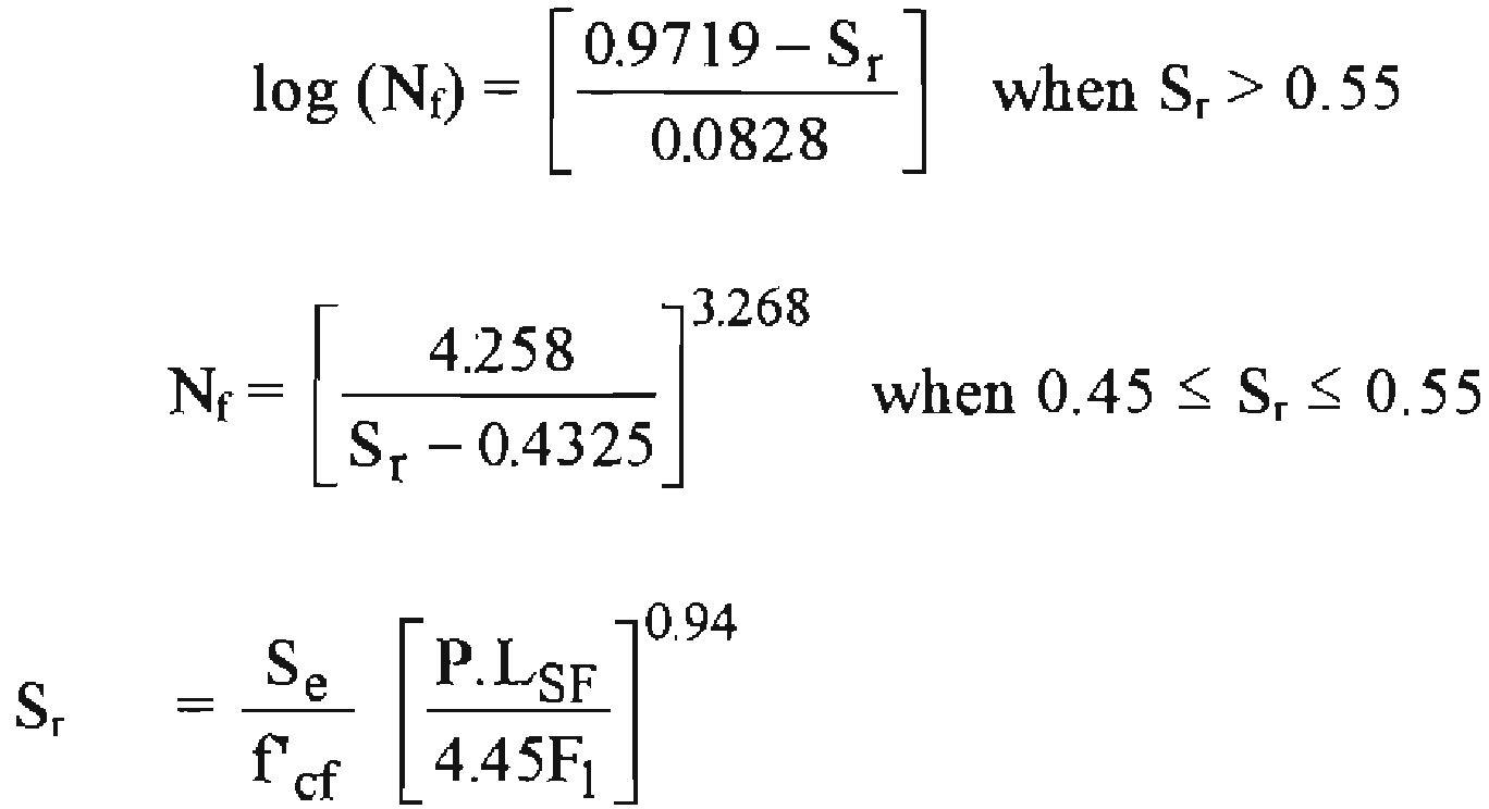 PCA Fatigue Loading Equation