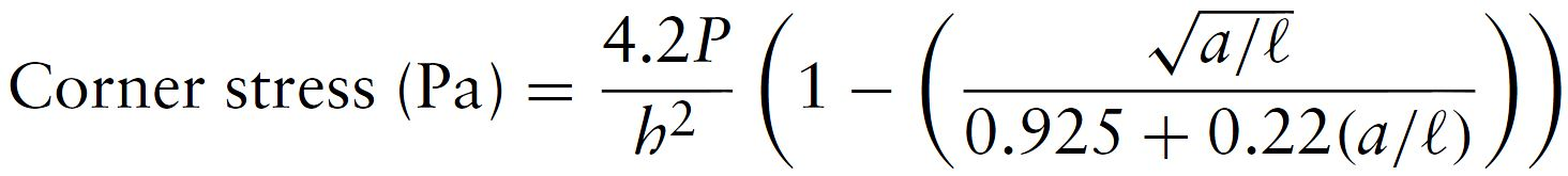 Westergaard - Corner Load Equation (Pickett)