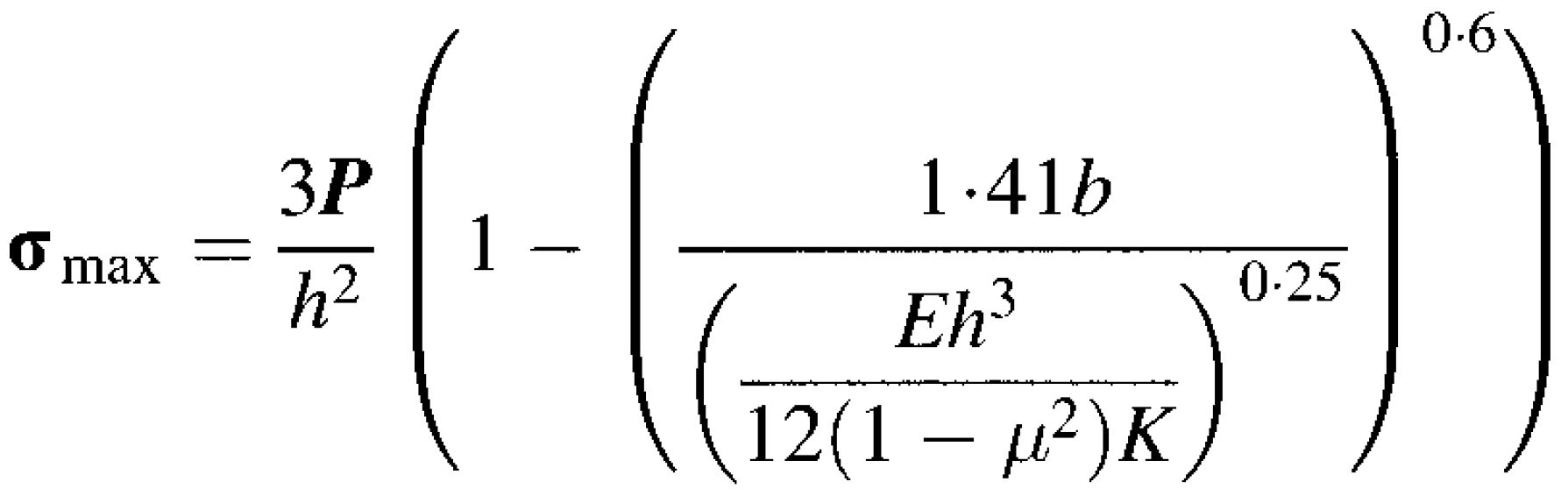 Westergaard - Corner Load Equation (Westergaard)