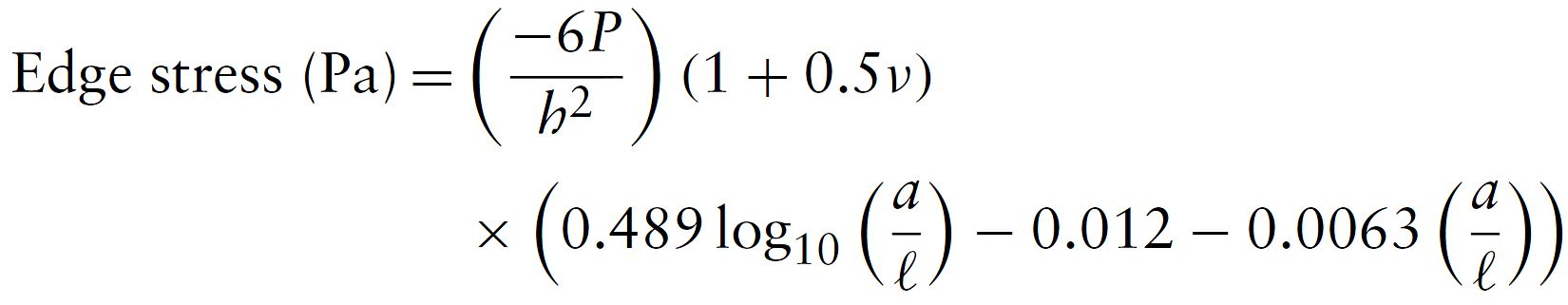 Westergaard - Edge Load Equation (Loseberg)