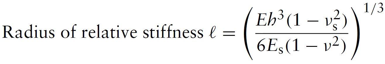 Westergaard - Radius of Reltive Stiffness (Elastic Solid Foundation)